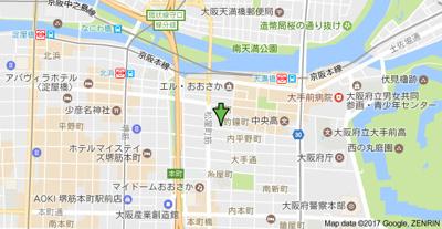【地図】アスヴェルタワー大阪城WEST