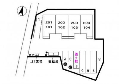 【区画図】サンライフ大毛寺