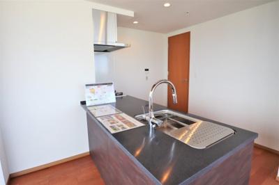 木目とステンレスの美しいキッチン 新調済です。