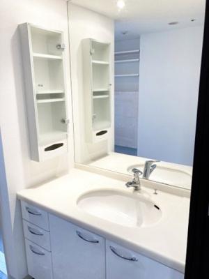 幅が広く使いやすい洗面化粧台