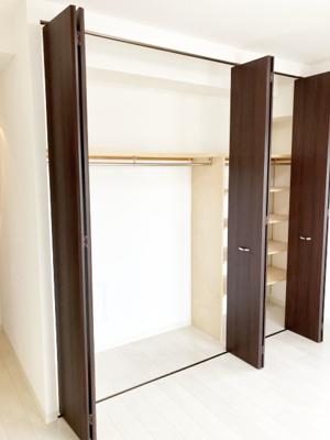 各室にクローゼット付き・収納豊富