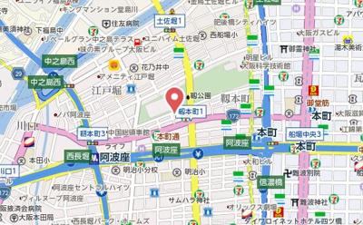 【地図】ハビテ靭センターコート