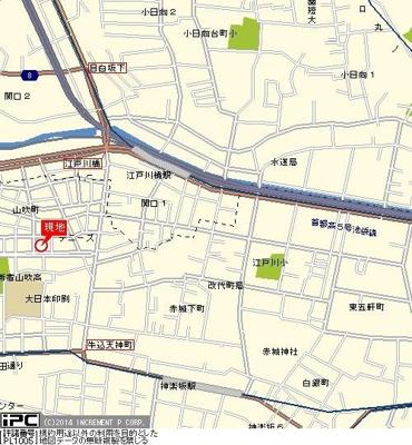 【地図】フェニックス早稲田