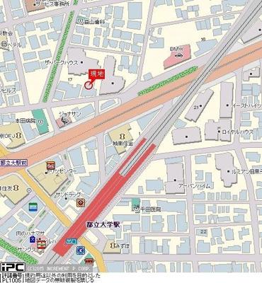 【地図】トーシンフェニックス都立大学