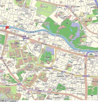 【地図】ステージファースト西早稲田