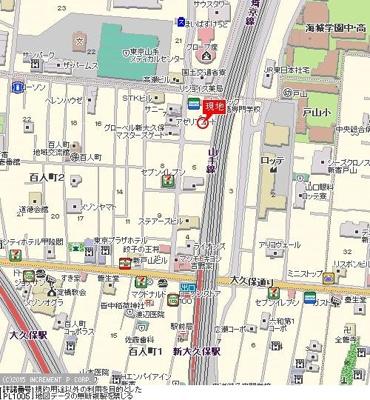 【地図】クレアトゥール新宿21