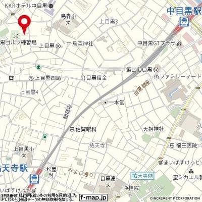 【地図】菱和パレス上目黒