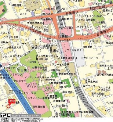 【地図】プライム目黒