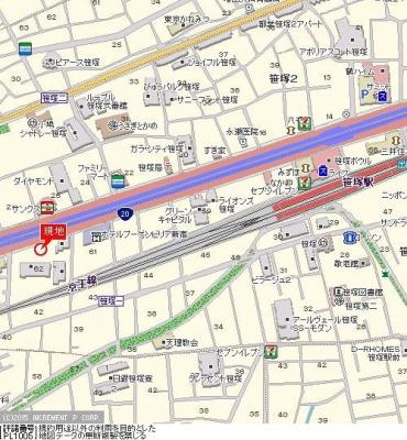 【地図】キャッスルマンション笹塚
