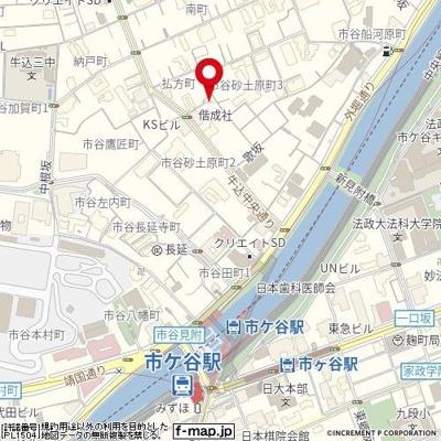 【地図】トップ市ヶ谷