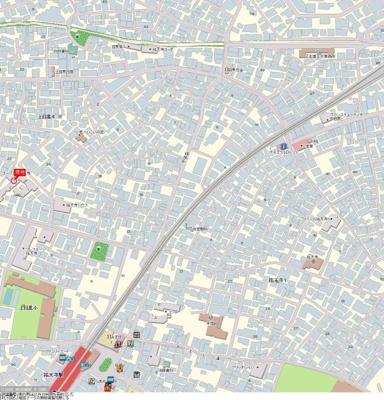 【地図】ユースフル祐天寺No.2