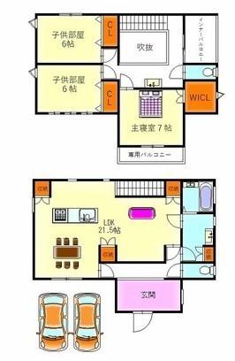 【間取り図】 JR阪和線「和泉砂川」駅徒歩13分の生活便利なお家です。家具・全室照明器具つきです♪