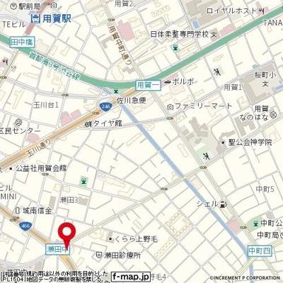 【地図】PASHA用賀