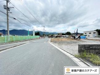 前面道路含む現地写真です。 現地案内も可能です!お気軽にお電話ください♪
