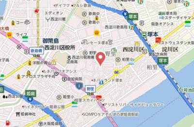【地図】H-maison塚本