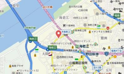 【地図】TOYOTOMI STAY PREMIUM梅田西Ⅱ