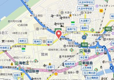 【地図】レジュールアッシュ梅田WEST GATE