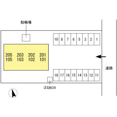 【区画図】サン ローズコート