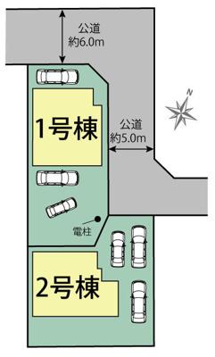 【区画図】掛川市葛川 新築一戸建て 2号棟 TE