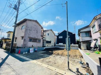 【前面道路含む現地写真】草加市谷塚町新築戸建て