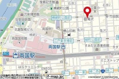 【地図】Rising place 両国三番館