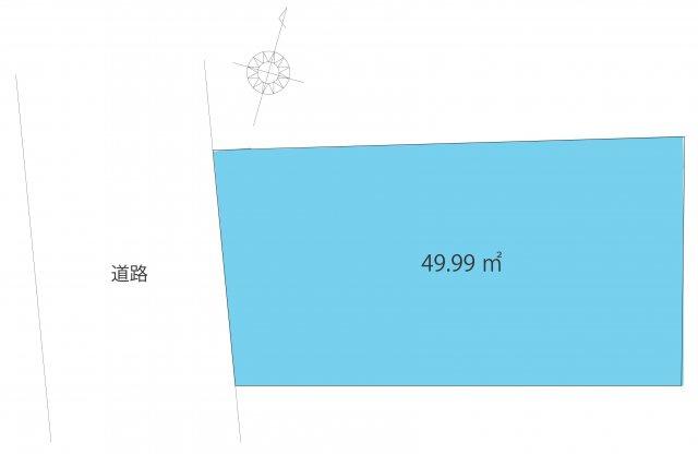 【土地図】中野区中野5丁目・建築条件無売地