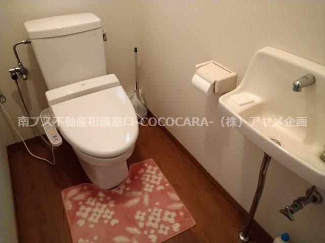 温水洗浄トイレ 手洗い場付です!