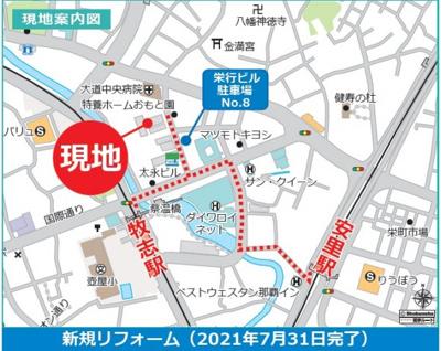 【地図】ライオンズマンション大道第2
