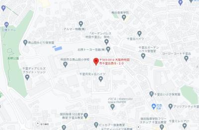 【地図】千里月見ヶ丘ハイツI棟