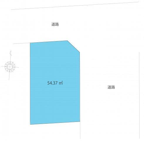 【土地図】葛飾区高砂1丁目・建築条件無売地