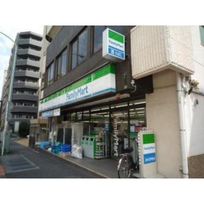 コンビニ「ファミリーマート西早稲田三丁目店まで157m」