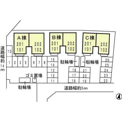 【区画図】ヒルサイドテラスC棟