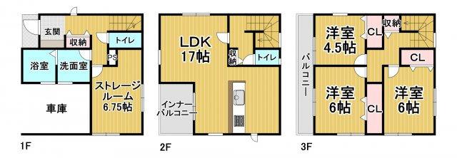 リーブルガーデン糸島市高田第十 1号棟3SLDK