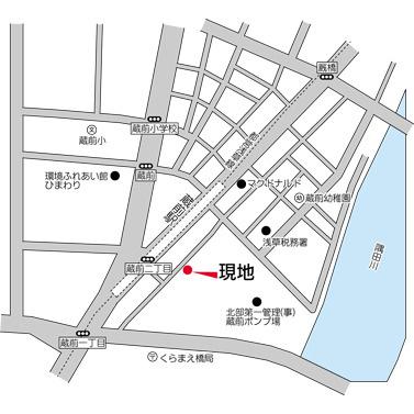 【地図】ニューシティアパートメンツ蔵前
