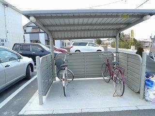 駐輪場まで0m