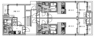 【間取り】名古屋市熱田区切戸町2丁目一棟アパート