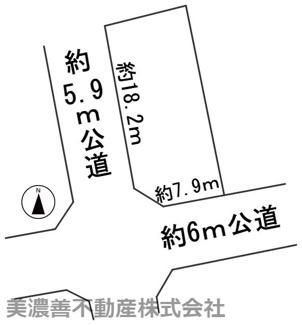 【区画図】57444 岐阜市萱場北町土地