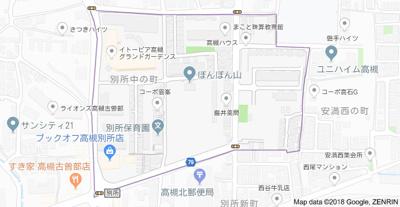 【地図】竹花貸家 (株)Roots