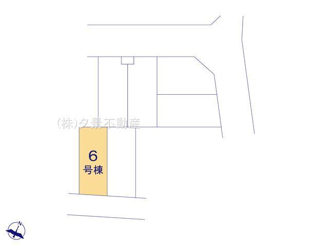 【区画図】川口市芝塚原1丁目13-16(6号棟)新築一戸建てクレイドルガーデン