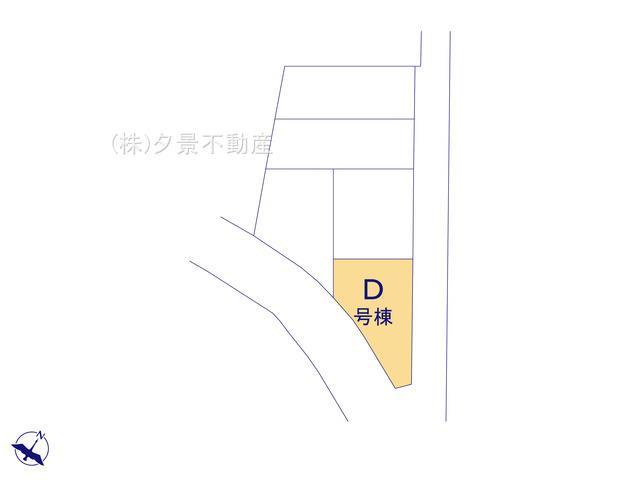 【区画図】川口市鳩ケ谷本町4丁目9-10(D号棟)新築一戸建てメルディア