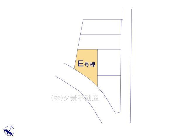 【区画図】川口市鳩ケ谷本町4丁目9-10(E号棟)新築一戸建てメルディア