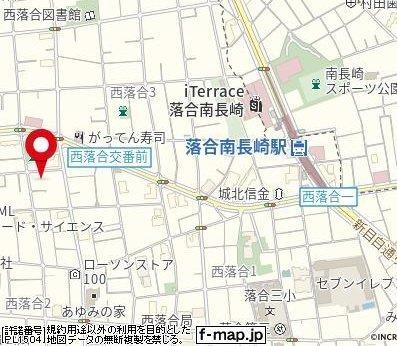 【地図】ALIVIO西落合