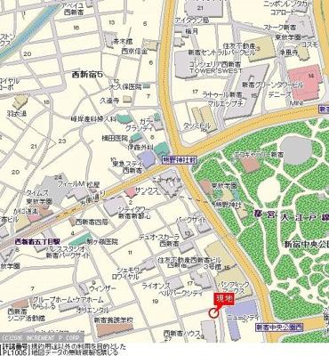 【地図】シンシア都庁前