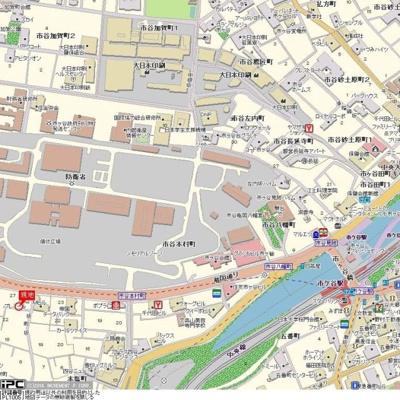 【地図】カテリーナ市ヶ谷