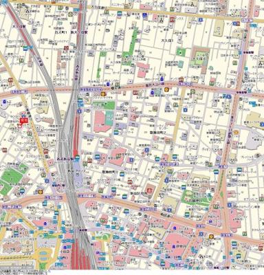 【地図】パレステュディオ新宿WEST