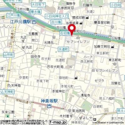 【地図】DIPS神楽坂