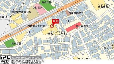 【地図】パレステュディオ新宿パークサイド