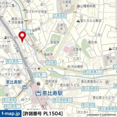 【地図】ステージファースト恵比寿東