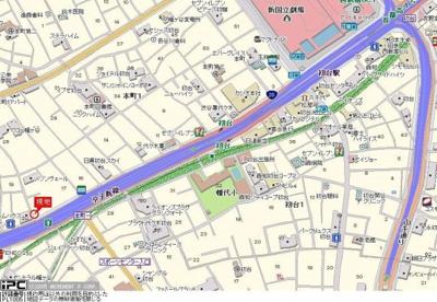 【地図】ロイヤルパレス初台