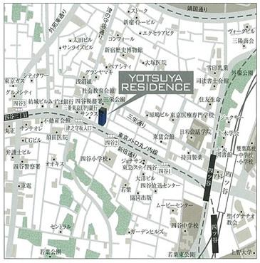 【地図】YOTSUYA RESIDENCE